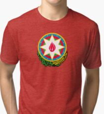 Azerbaijan National Emblem  Tri-blend T-Shirt