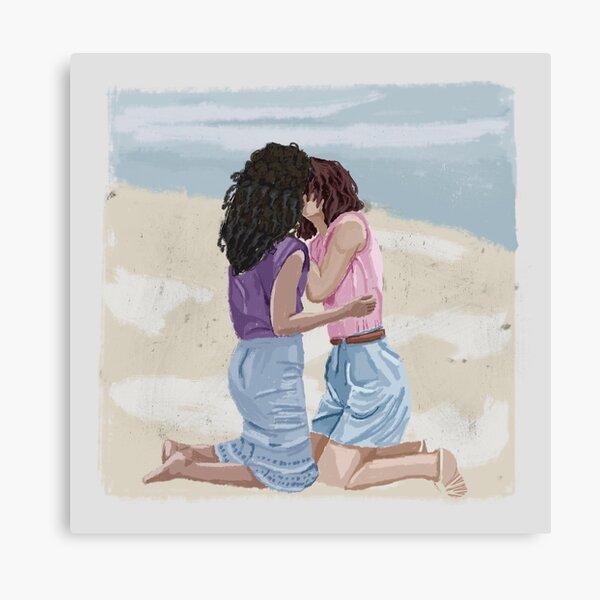 ebony bbw lesbian kissing