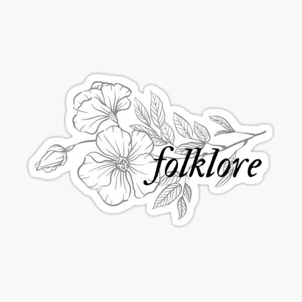 álbum de folklore Taylor Swift letra de la flor Pegatina