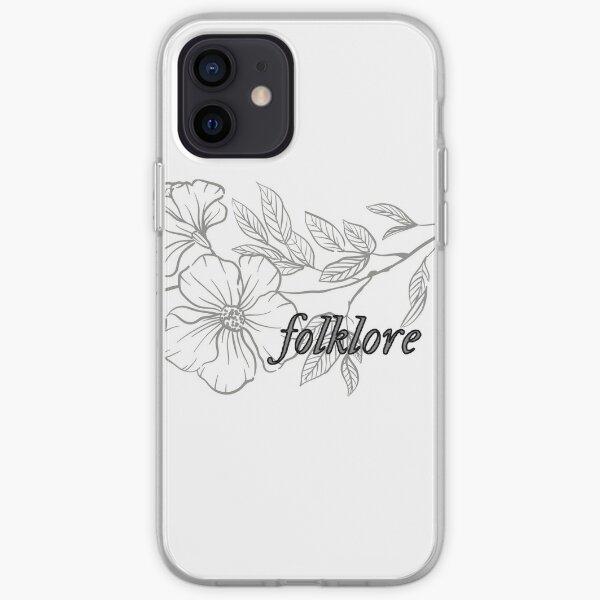 Paroles de l'album folklore Taylor Swift Flower Coque souple iPhone
