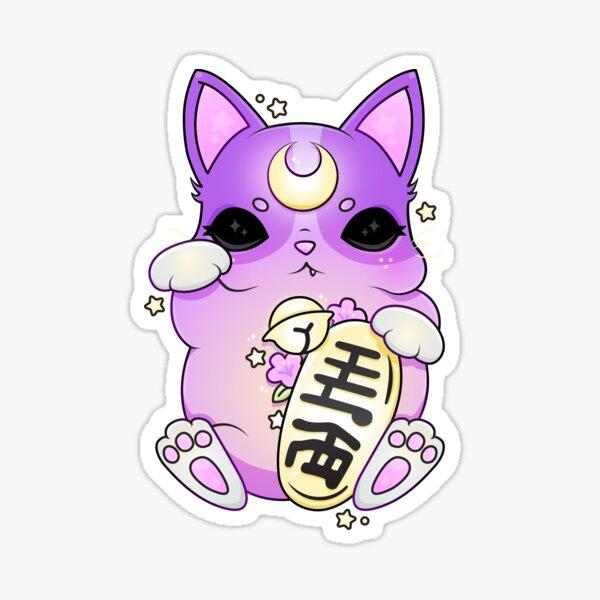 ☽ ☾ Moon Maneki Neko ☽ ☾ Sticker