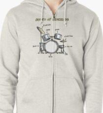 Sound of Drumming - Drumset Zipped Hoodie