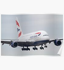 British Airways Airbus A380 Poster
