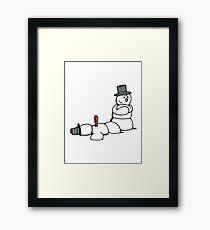 Snowman Killer Framed Print