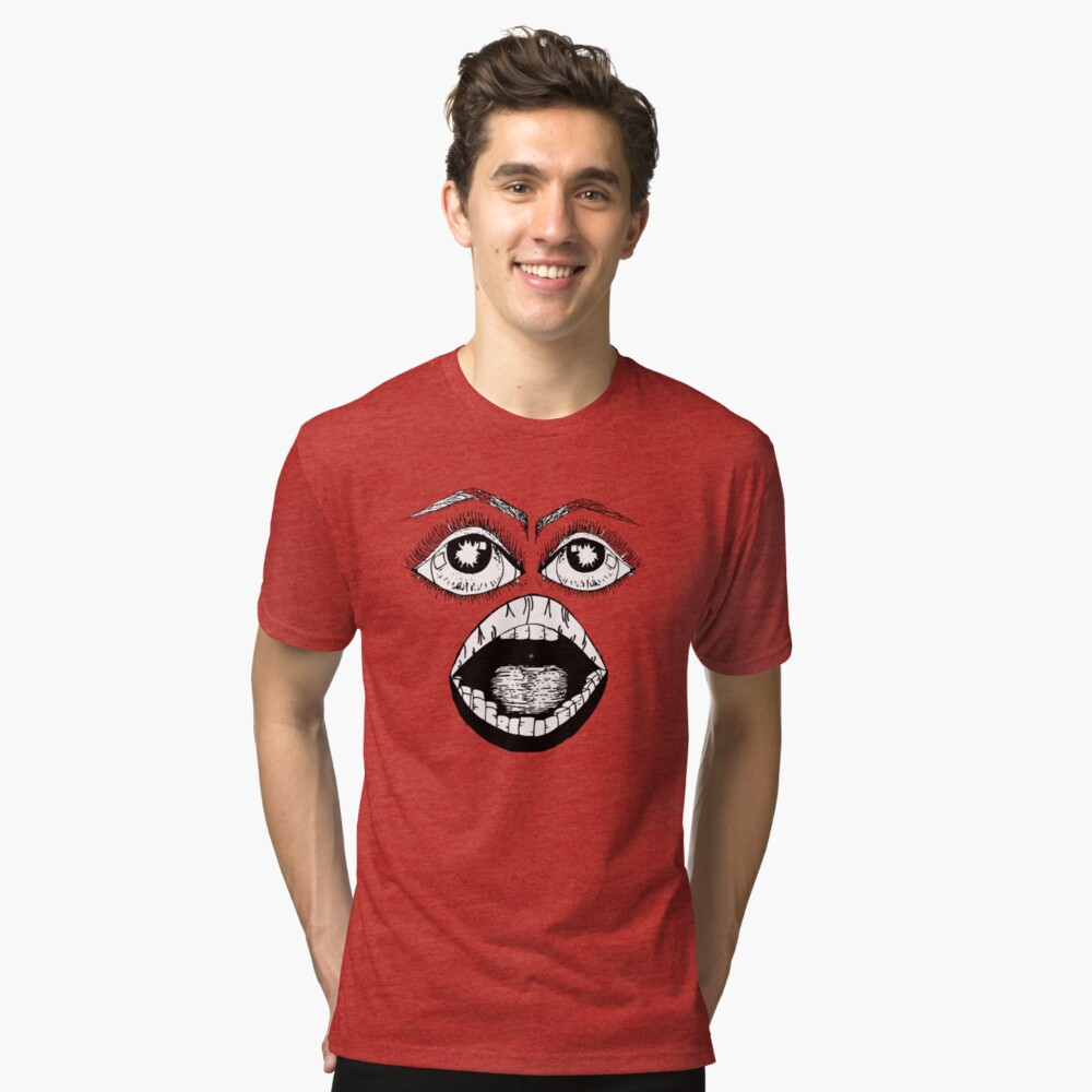 the face Tri-blend T-Shirt Front