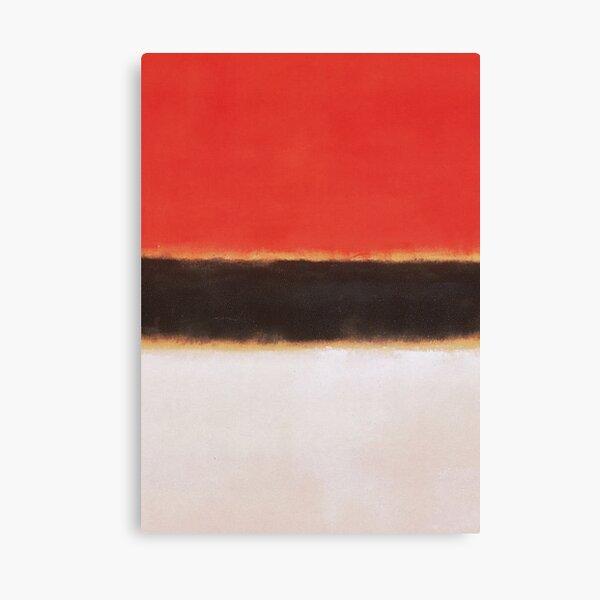 Mark Rothko Estilo de pintura Arte Blanco Naranja Negro # 8 Lienzo