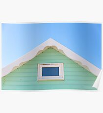 Pastel mint beach hut Poster