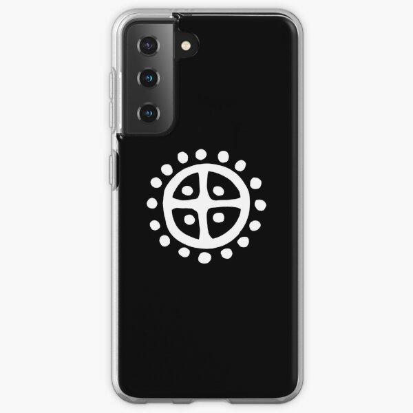 White Norse Sun Wheel   Prehistoric Norse symbols Samsung Galaxy Soft Case