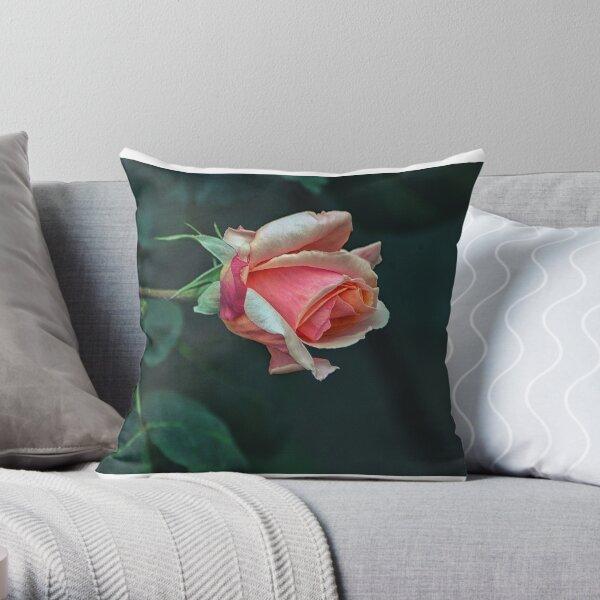 Apricot Nectar Rose2 Throw Pillow