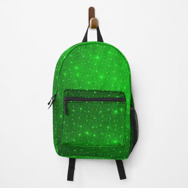 Digital Glittering Green Backpack