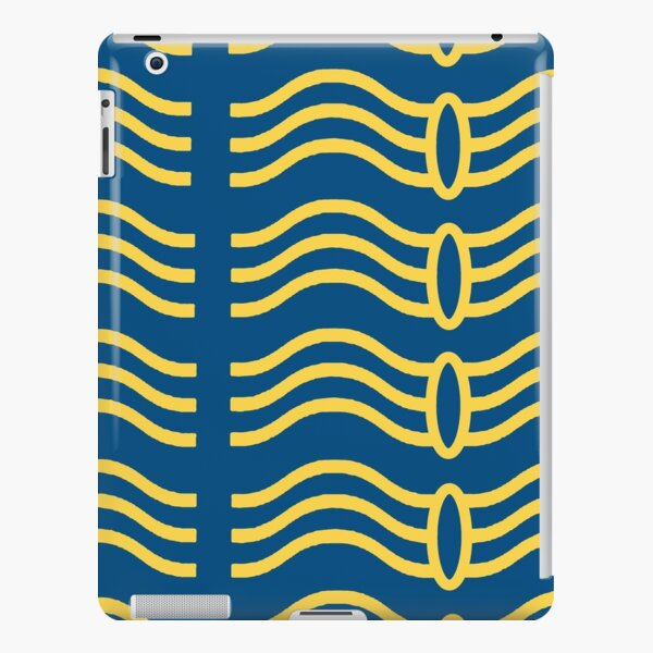 Wavelength blue and yellow pattern iPad Snap Case