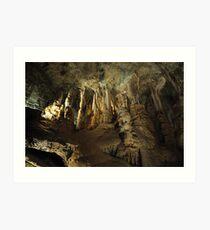 Inside the caves Art Print