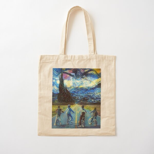 Ref 1244 Inspired by Stranger Things The Upside Down Organic Cotton Tote Bag