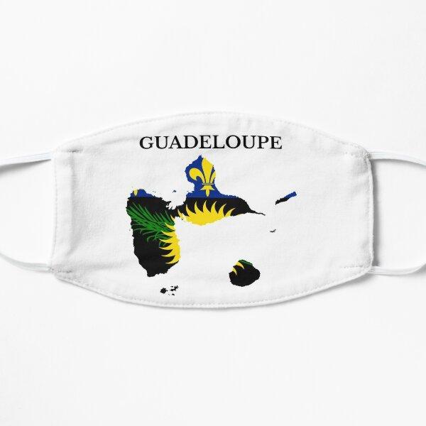 Drapeau de la carte de la Guadeloupe, France, région française Masque sans plis
