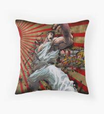 SSF4 - Ryu Sunburst Throw Pillow