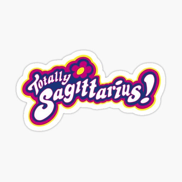 totally sagittarius! - y2k 2000s aesthetic zodiac star sign vibes Sticker