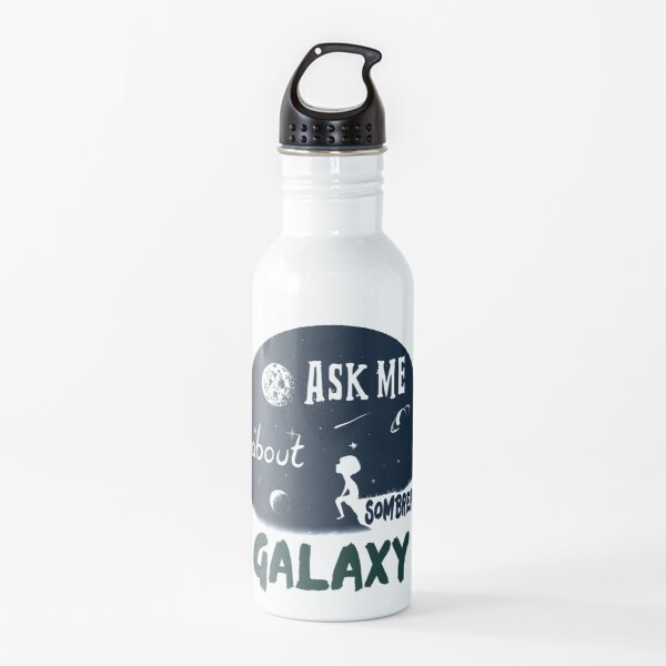 Ask Me About Sombrero Galaxy - Astronomer Gifts Water Bottle