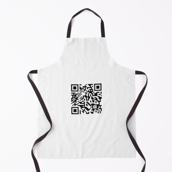Rick Roll Never Gonna Give You Up QR Code Apron