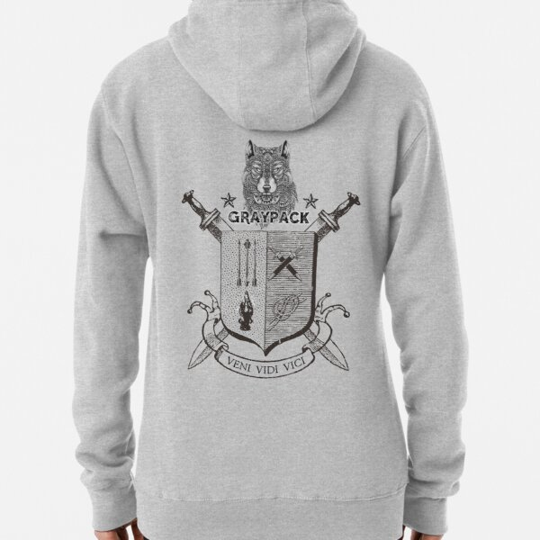 Gray Pack Back  Pullover Hoodie
