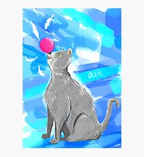 Cat Painting pt4 Photographic Print
