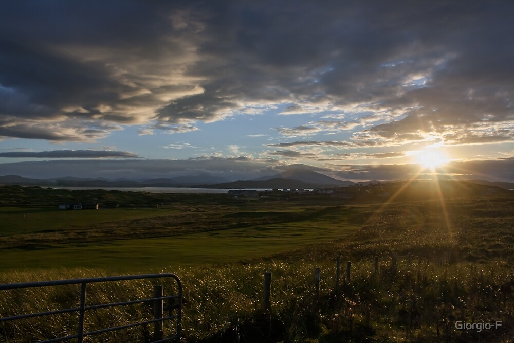 Ireland field sunset by Giorgio-F
