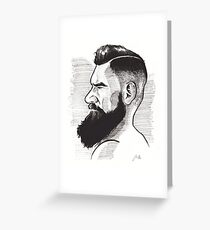 Kenny Brain - Bearded War Lord Greeting Card