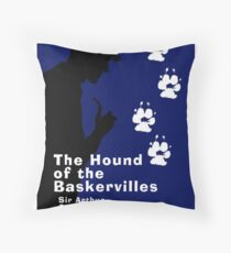 The Hound of the Baskervilles Book Cover Throw Pillow