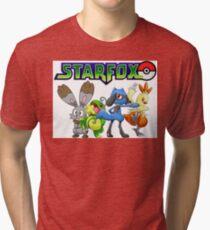 Pokemon Star Fox Tri-blend T-Shirt