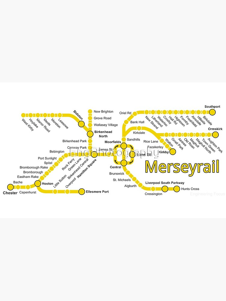 Merseyrail Network Map by EngPhotography