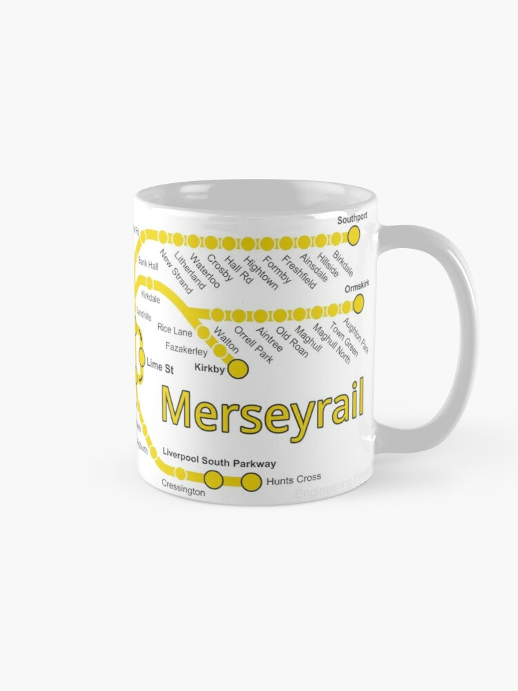 Alternate view of Merseyrail Network Map Mug