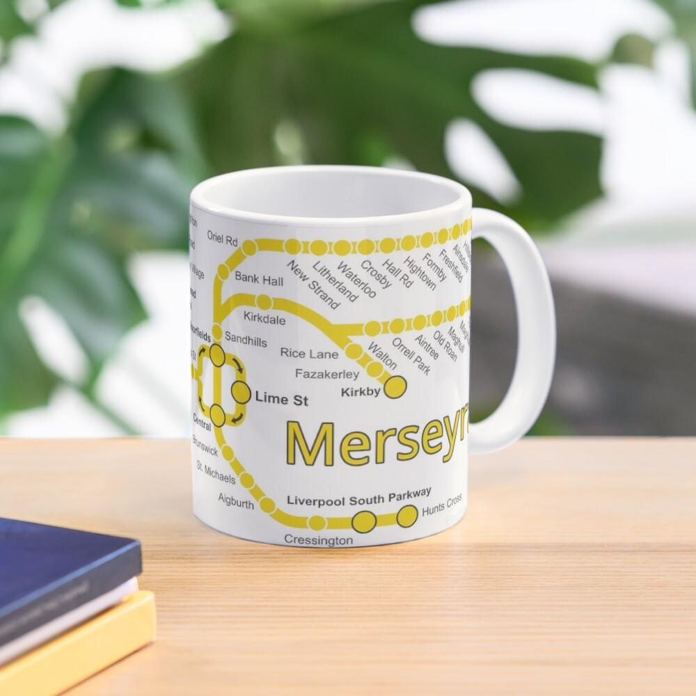 Merseyrail Network Map Mug