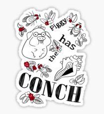 Piggy Has the CONCH Sticker
