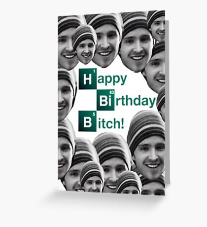 Happy birthday Breaking Bad Jessie Greeting Card