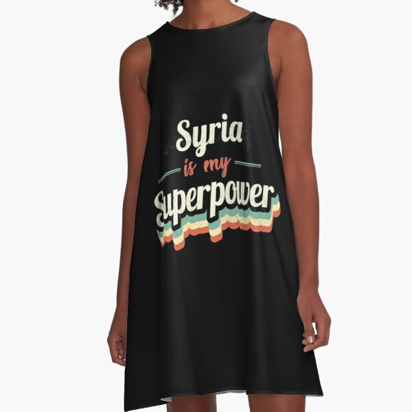 Proud to be born in Syria A-Line Dress