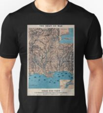 Civil War Maps 0196 Birds eye view of the Mississippi Valley from Cairo to the Gulf of Mexico T-Shirt