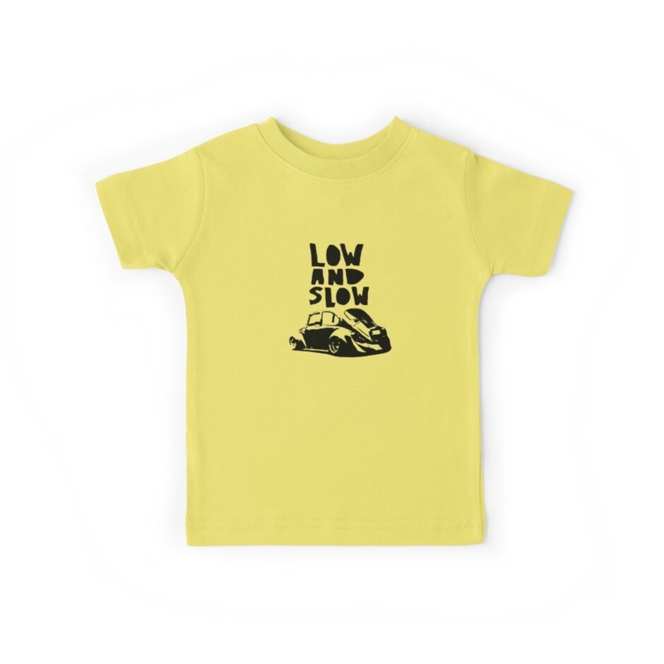 Design t shirt kid - Vw Beetle Low And Slow Design Car Euro T Shirt By Lowgrader