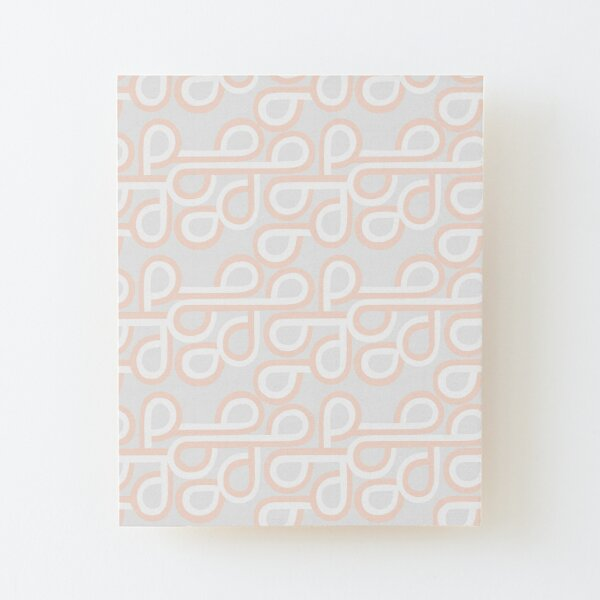 """Sunset Strip Gray"" Mod Geometric Designer Print Wood Mounted Print"