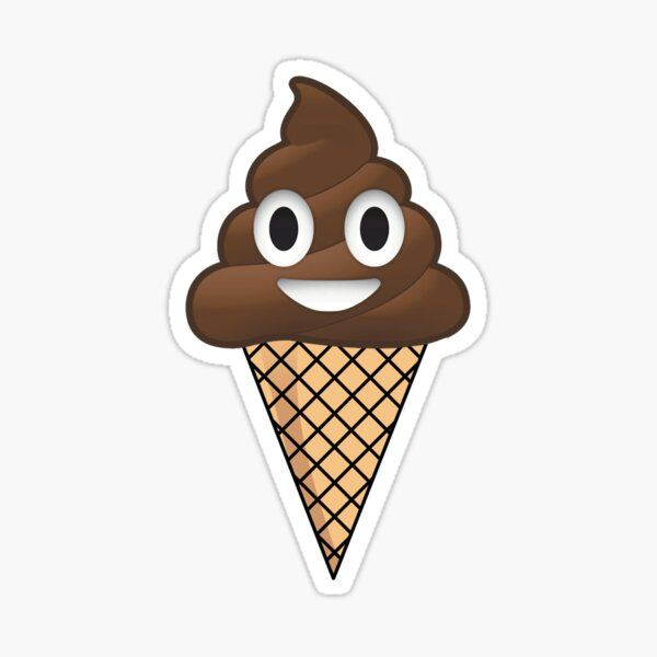 Poop Emoji Crème glacée Sticker