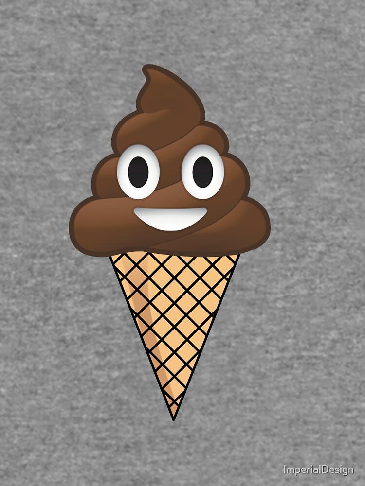 Poop Emoji Ice Cream Lightweight Sweatshirt By Imperialdesign
