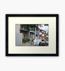 Glebe Streetscape Framed Print