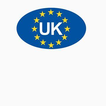 Vereinigtes Königreich Oval EU Aufkleber von robotface