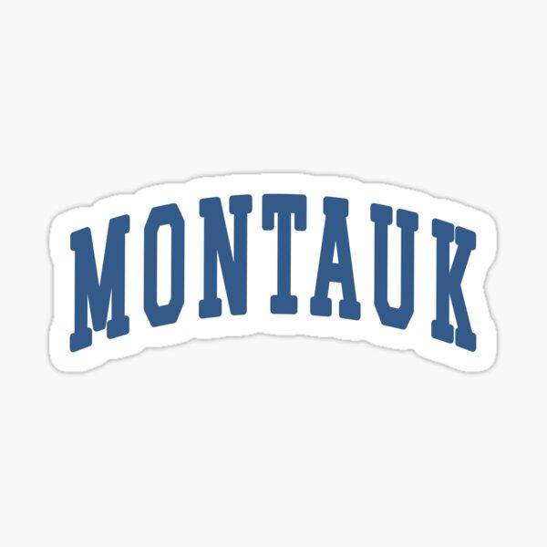 Montauk New York Blue Sticker