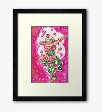 Peppermint Candy Cane Framed Print