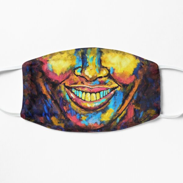 """Rebel"" painting (Happy to be an Artist) - ""Smile"" Fine Art series Mask"