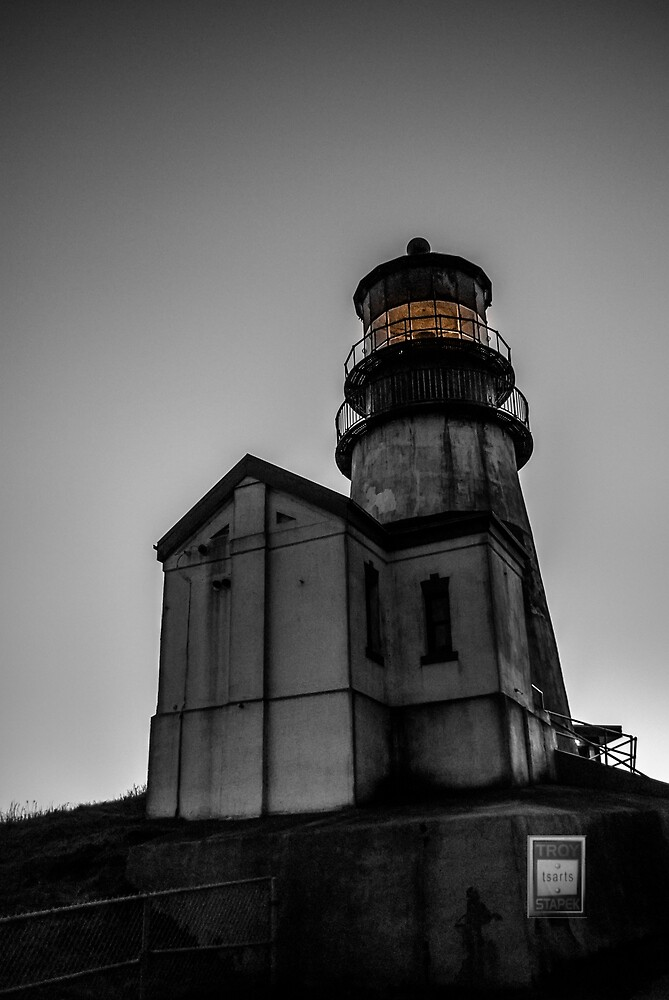 Cape Disappointment Spooky Lighthouse  by Troy Stapek