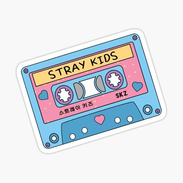 STRAY KIDS Cassette Cassette Rétro Pastel Mignon Bleu Rose Sticker