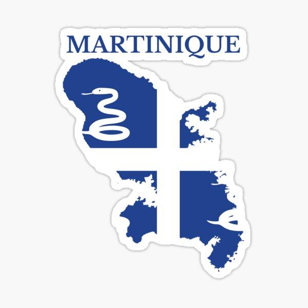Drapeau de la carte de la Martinique, France, région française. Sticker
