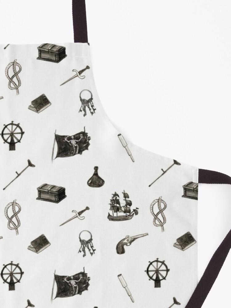 Alternate view of Black Sails Pattern Apron