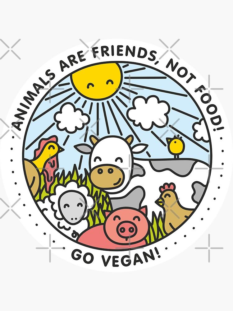Los animales son amigos, no comida. ¡Vamos vegano! de dmitriylo