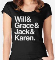 Will & Grace (& Jack & Karen) Women's Fitted Scoop T-Shirt